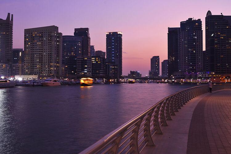 Sunset on Dubai