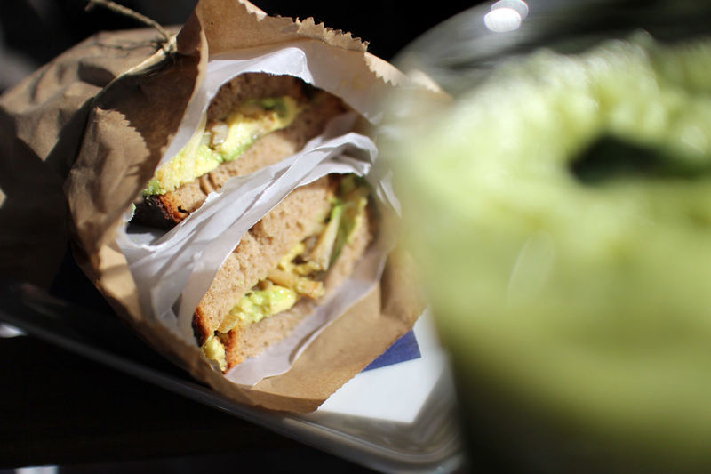 Close-Up View Of Fresh Sandwich