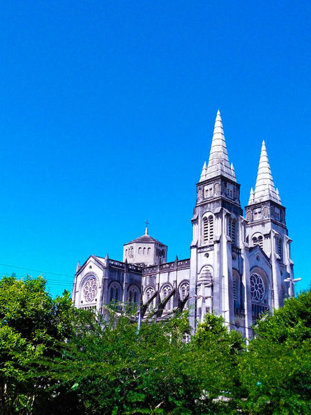 Architecture Building Exterior History No People Tree Outdoors Built Structure Blue Low Angle View Day Sky Travel Destinations Clear Sky Church!  Church Architecture Asuszenfone2laser Asus Camera Fortaleza - CE / BRASIL Nordestebrasileiro