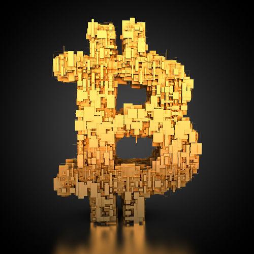 3D rendering: golden bitcoin symbol with tech texture 3D 3d Rendering Currency Gold Golden Money Money Money Tech Technics Bitcoin Bitcoins Gold Colored Money Rendering Symbol Technical Technological Technology Valuta