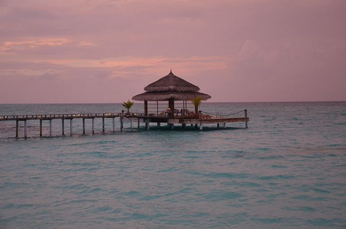 Hello World Sunset Maledives Nature