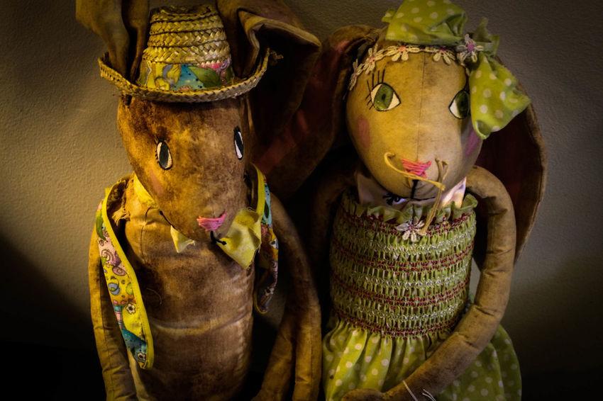 Antiques Anıt Bunny  Creepy Dolls Vingette