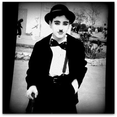 Purim 1989 as Charlie Chaplin