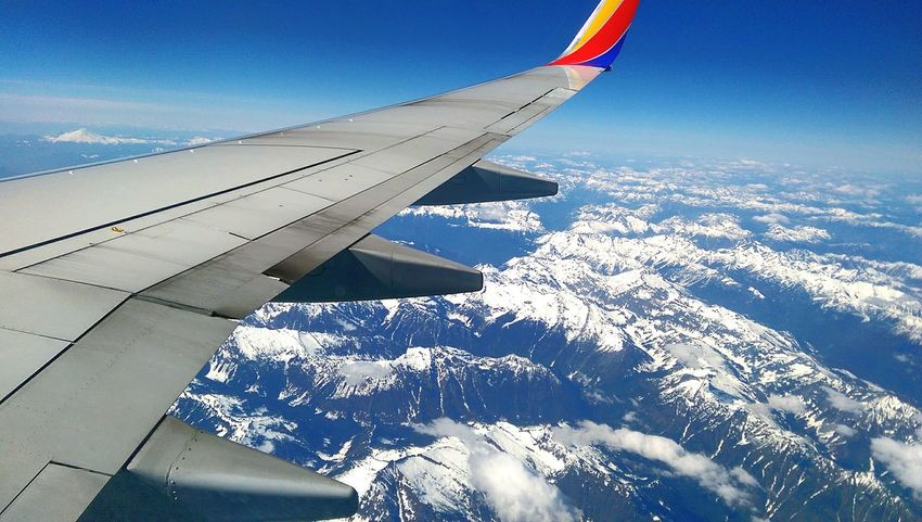 Why I pick the window seatUp Up And Away Homebound Southwest Airlines On Time Arrival