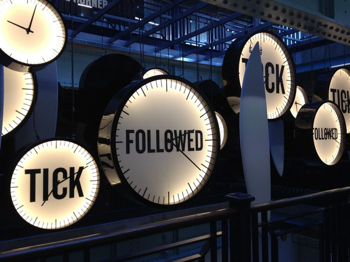 Circle Clock Guinnessstorehouse Ireland No People Text Tick Tock Time Tourism