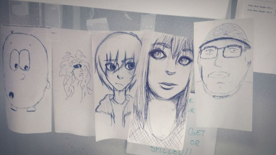Everyone at work did a quick dketch while we were slow. Mine is the middle, Hiro Hamada. Art Drawing Hiro Hamada BH6