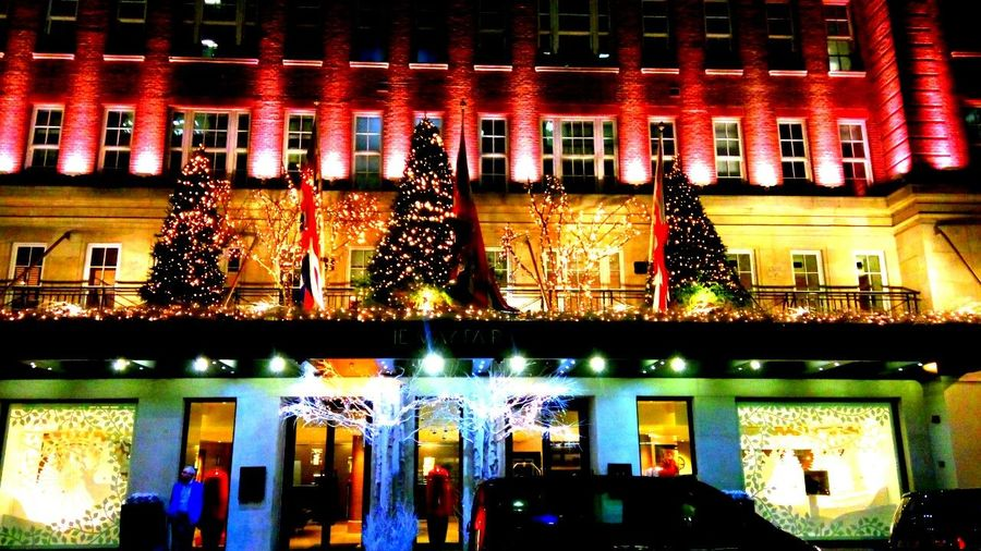 Rich Christmas... Illuminated Architecture Built Structure Night City Building Exterior London The May Fair Mayfair, London Lights Christmas Tree Christmas Lights Christmas Decorations Christmas Around The World Hotel