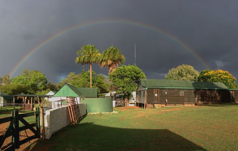Rainbow Beauty In Nature No People Sky Scenics - Nature Australianoutback Cattlefarm House Land Tree Outdoors