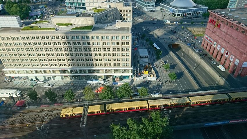 Berlin East. Berlin Germany Capital B B Capital Cities  Capital Capital City Alexanderplatz Alex Train Trains View View From Above Urban City Light And Shadow Light Urban Exploration City Road Street Architecture Building Exterior Built Structure