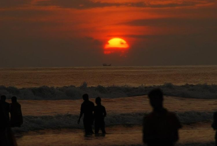 Beach Sunset_collection Beautiful Sunset Sun Reflection