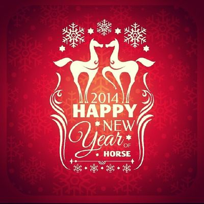 Happychinesenewyear Yearofthehorse MyYear Goodluck GoodMoment 2014