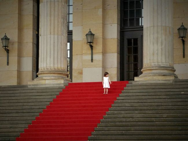 Steps Staircase Steps And Staircases One Person Architecture City Summer June Outdoors Day Buildings Berlin Gendarmenmarkt GoAway Child Girl Redcarpet Red Carpet Just Around The Corner Lovely
