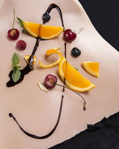 EEprojects Fruit Orange Belly Sexy Erotic Body Oiledbody Oiled Shape Girl Composition Cherry Instaerotic Foodart Food Foodporn Foodphotography Panties Hotandsexy Wetbody Fit Fitness Healthy Vegan salad foodplatinggastronomy kitchenbeautifulcuisines