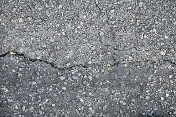 Backgrounds Textured  Full Frame No People Gray Cracked Pattern Asphalt Rough Solid Transportation Nature Road Abstract Day Outdoors Gravel Stone Material City Close-up Textured Effect Concrete Abstract Backgrounds Cement