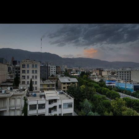 همین امروز - یهویی. منظره ی اتاقم رو به توچال . Today in Tehran . My Room View to Tochal