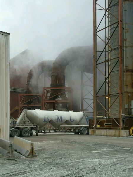 Semi Industrial Landscapes Industrial Photography Industrial Plant Dust Cloud Steel Plant Men At Work  Big Rig