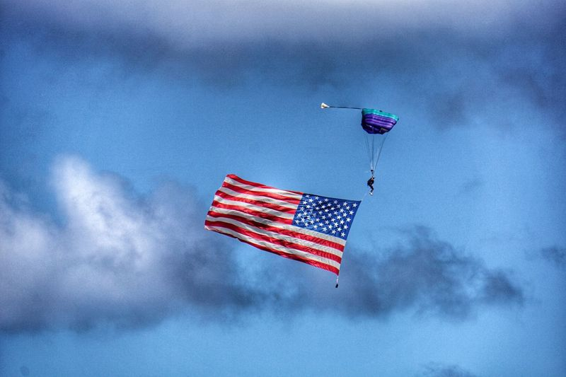 America... Flag Old Glory Air Show Greatness Hawaii