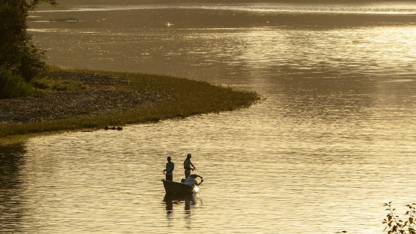 Selected For Partner Water Real People Two People Men Reflection Leisure Activity Lifestyles Beauty In Nature Sky Silhouette Waterfront Togetherness Bonding Sea High Angle View Nature Sunlight Positive Emotion People Outdoors