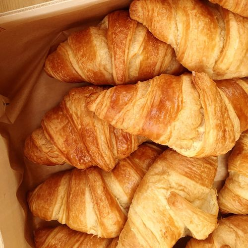 Croissant Croissants Breakfast Golden Bakery Food Delicious Top Perspective