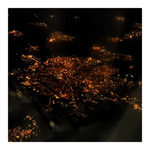 Somewhere in northern France, from 35000 feet. Taken From Airplane Smartphonephotography Samsungphotography Amateurphotography France Illuminated Arts Culture And Entertainment Celebration Motion Event Exploding Go Higher EyeEmNewHere