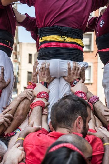 Castellers de Tortosa building a Human Tower Castellers De Tortosa Human Towers Teamwork Adult All Together !!! Castellers Child Clothing Crowd Day Give Me A Hand Group Of People Hand Human Body Part Human Hand Incidental People Large Group Of People Leisure Activity Lifestyles Men Midsection Real People Standing Togetherness Women