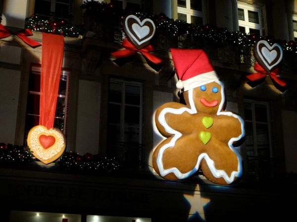 Strasbourg Gingerbread Gingerbreadman Visiting Strasbourg :) Strasbourg♥ Strasbourg By Night Christmas Noel2014 Christmastime Gingerbreadmen