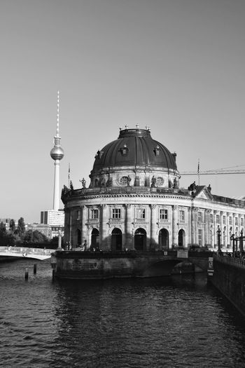 Bode Museum By River Against Fernsehturm