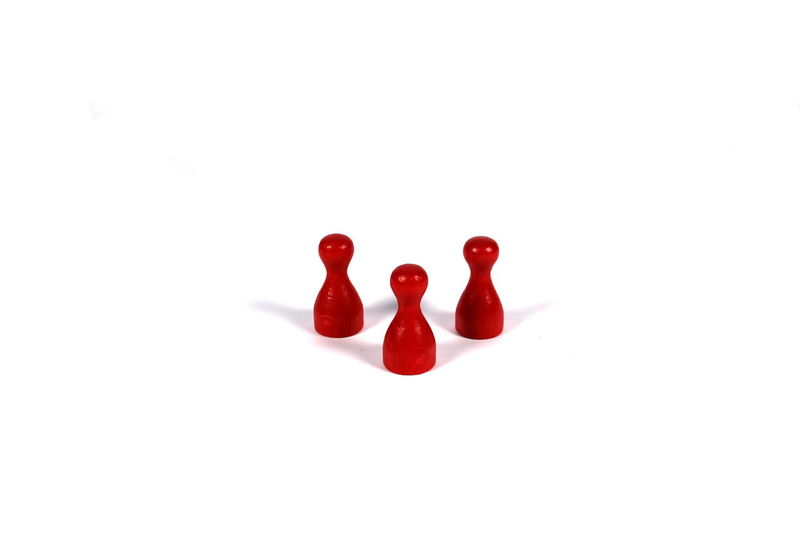 Figures Isolated Isolated White Background Meeple No People Red Studio Shot Token White Background