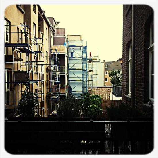 Balkone im Hinterhof