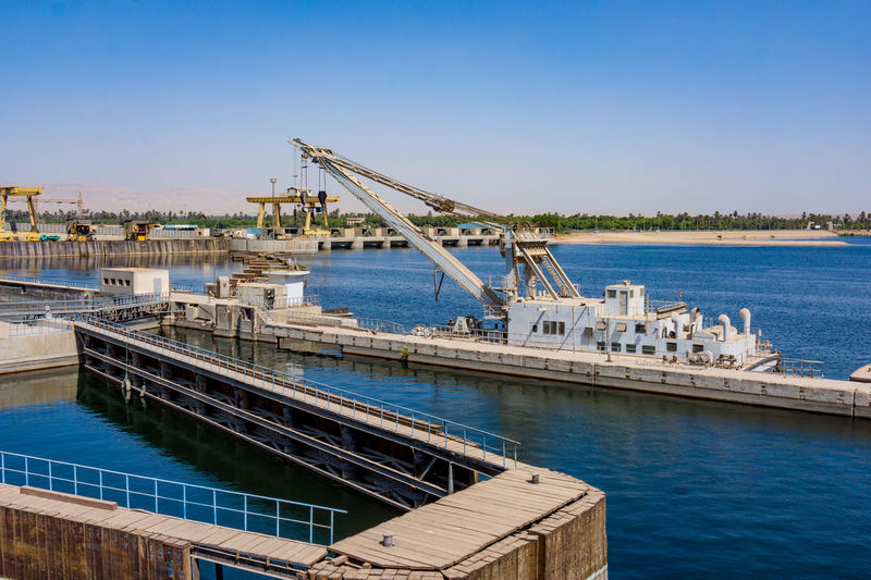 Architecture Blue Bridge - Man Made Structure Building Exterior Built Structure City Crane - Construction Machinery Day Harbor Industry Nature Nautical Vessel No People Outdoors Sky Water Ägypten Red Sea