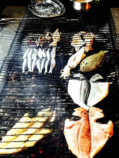 Sardines Dourada Lulas Meeresfrüchte Fisch Grill Food Food And Drink Seafood Freshness Healthy Eating Indoors  No People