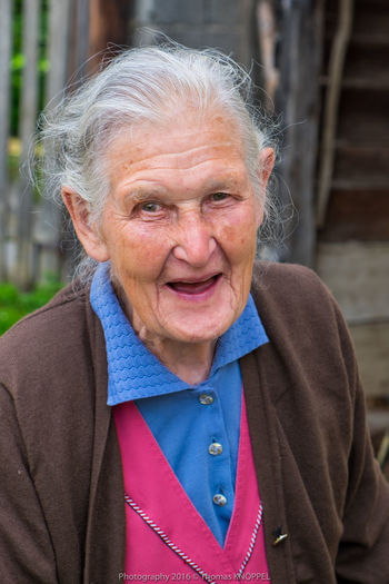 old woman 2 Alpine Casual Clothing Color Portrait Country Life Day Expression Face Focus On Foreground Front View Grey Hair Happy People Headshot Laughing Life Experience Looking At Camera Old Woman Portrait Outdoors Portrait Wrinkled