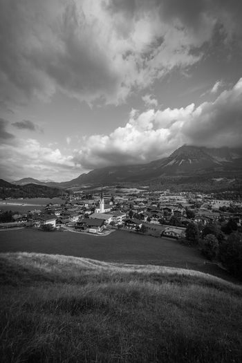 Clouds over Ellmau Ellmau Tirol  Cloud - Sky Sky Environment Landscape Scenics - Nature Mountain Beauty In Nature Nature No People Architecture Tranquil Scene Land Day Mountain Range Building Exterior Built Structure Tranquility Field City Building Outdoors Cityscape TOWNSCAPE