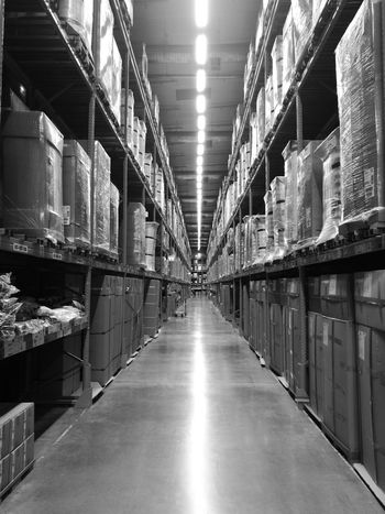 Industry Indoors  Warehouse Business Finance And Industry Shelf Store No People