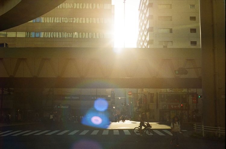Tokyo street Architecture Built Structure Day Indoors  Lens Flare No People Sun Sunbeam Sunlight
