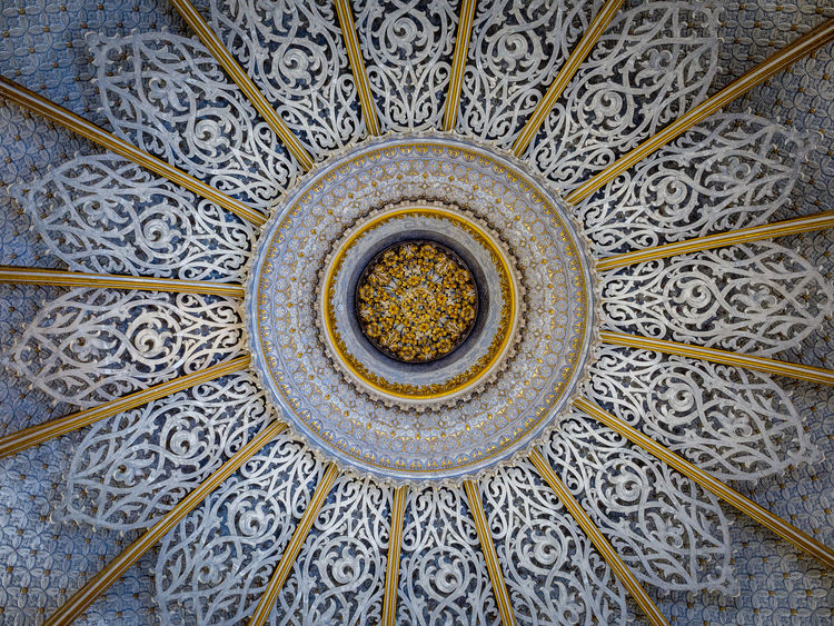 Architectural Design Architecture Built Structure Ceiling Circle Close-up Day Directly Below Full Frame Indoors  Low Angle View No People Pattern Place Of Worship Rose Window
