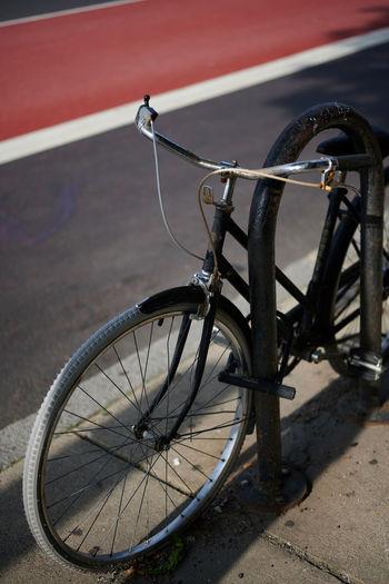 Locked Bike in