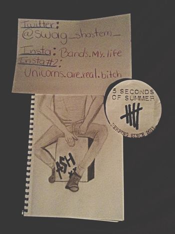 Finished :) ashton Draw 5secondsofsummer 5SOS Bands