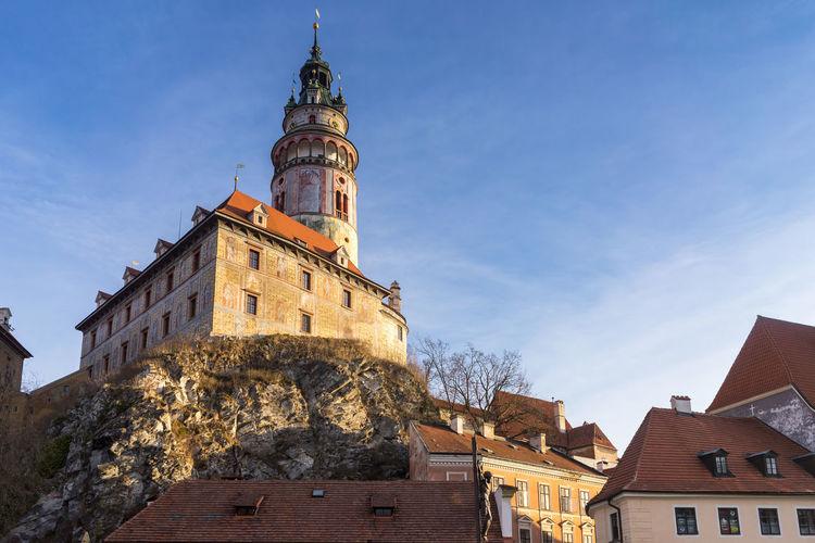 Cesky krumlov castle against sky