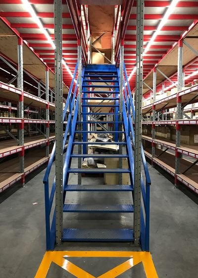 Industry Architecture Indoors  Warehouse Rack Shelves Factory Design