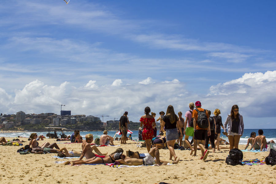 People on Australian beach Australia Australian Beaches City Life Coastline Manly Beach Authentic Beach City Background Cloud - Sky Crowd Group Of People Holiday Large Group Of People Leisure Activity Ocean People People On Beach Real People Sand Sea Sea And Sky Season  Sunset Vacations Water