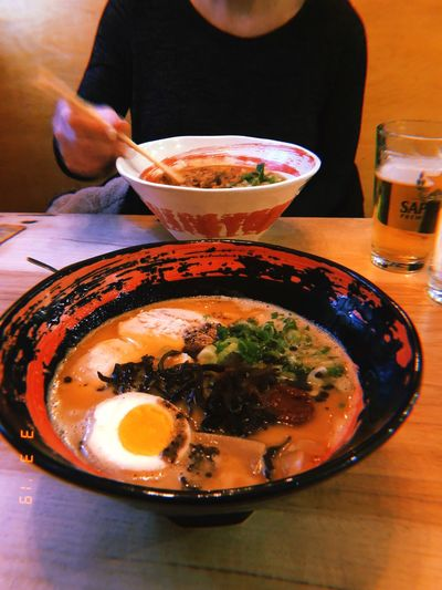 NYC Lunch Spicy Miso Ramen Beer Ramen Food And Drink Food Bowl Freshness Indoors  Table Ready-to-eat Soup Meal Asian Food Lifestyles