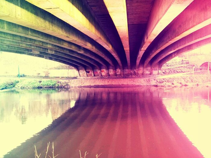 Walking Under A Bridge