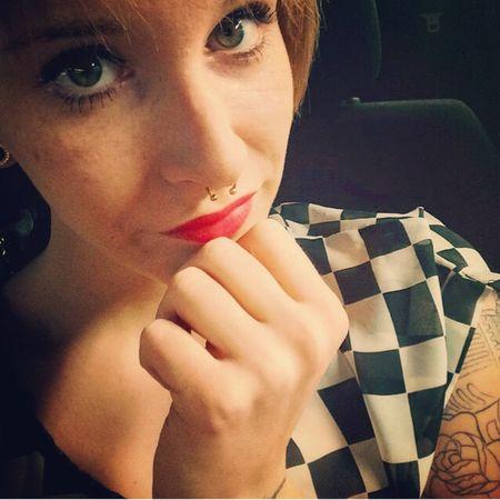 Beatygirl Septum Tattoogirl Selfie Shoot Rockabella Redlips Eyes