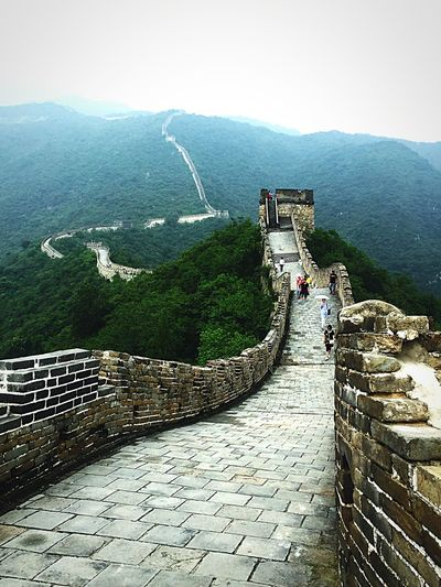 The great Chinese Wall Greatpicture Wall Chinese History Mountain High Angle View Day Travel Destinations Architecture Scenics Outdoors Built Structure Nature Beauty In Nature Sky Real People