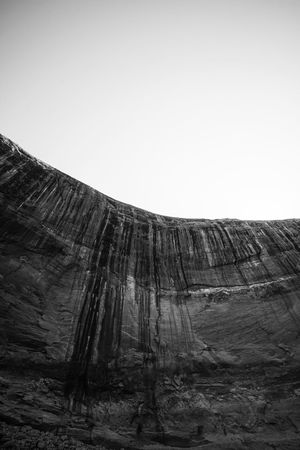 Weep. Geology Clear Sky Sky Rock - Object Nature Beauty In Nature Low Angle View Hiking USAtrip USA Lake Powell Page Arizona Arizona Page Blackandwhite Black And White Black & White Weep