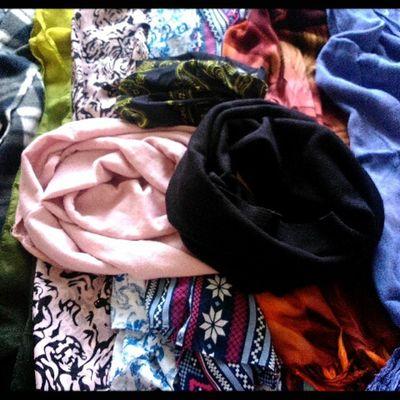 Hmmm dumadami na sila hihi Infinity scarf @etcetera_fashion Scarf Addictionnayata Hoarder
