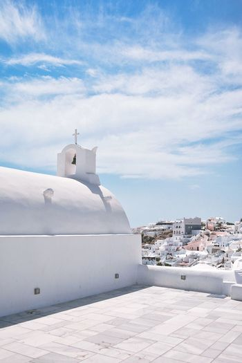Island view Eye4photography  EyeEm Best Shots The Week on EyeEm EyeEm Selects Traveling Travel Photography Travel Destinations Greek Islands Santorini, Greece Santorini Island View The Great Outdoors - 2018 EyeEm Awards Architecture Sky Building Exterior Water Built Structure Nature The Traveler - 2018 EyeEm Awards Cloud - Sky No People Outdoors White Color Travel