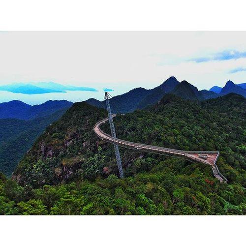 Mountain Suspendedbridge Bridge Engineering structure langkawi island beautiful asia malaysia travel trip instatravel