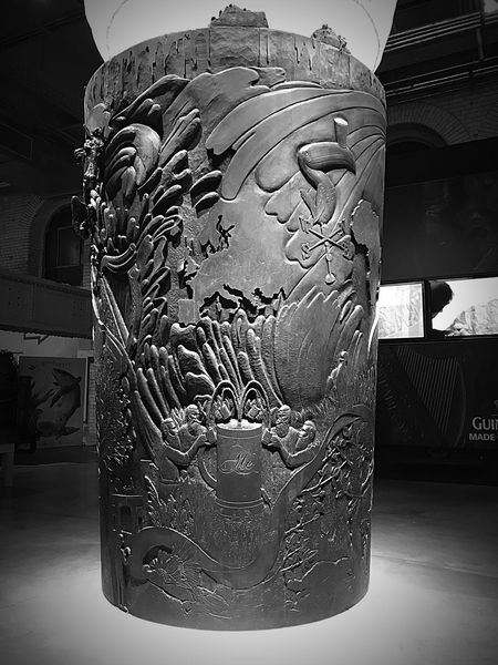 Art And Craft Carving - Craft Product No People Sculpture Close-up Indoors  Guinness Storehouse ArtWork Brewery Wood And Metal Dublin